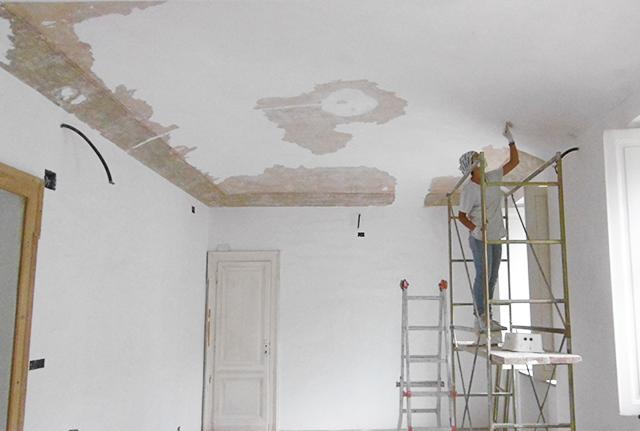 Restauro soffitti decorati abitazione privata torino zona pre collina f f artedelrestauro - Soffitti decorati ...